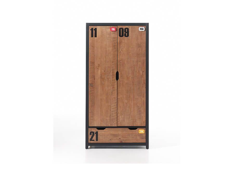 AXKL1219-Vipack-Alex-2deurs-kledingkast