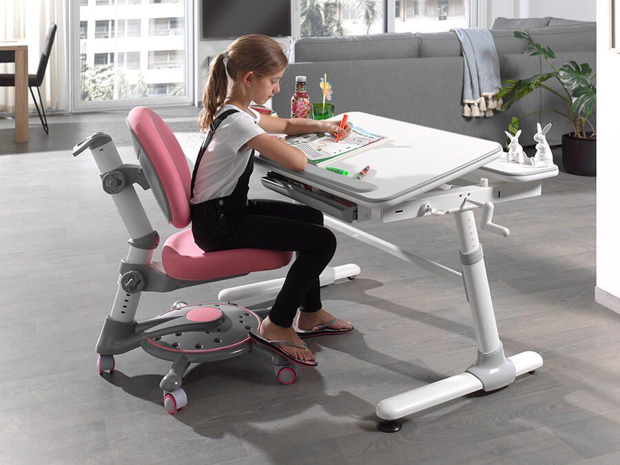 CLBU50215-Vipack-Comfortline-bureau-501-roze-stoel