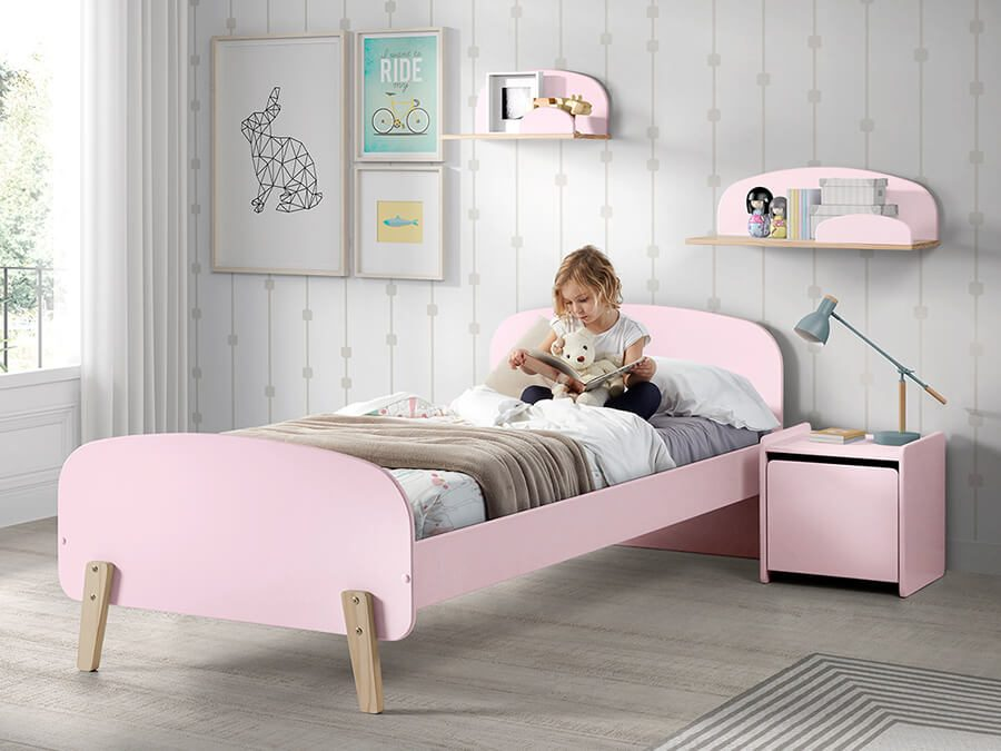 KIBE9013-Vipack-Kiddy-bed-roze1