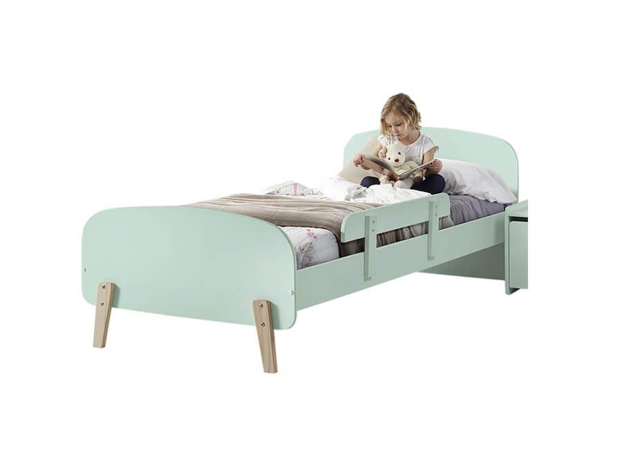 KIBE9093-Vipack-Kiddy-bed-mintgroen-met-uitvalbeveiliging