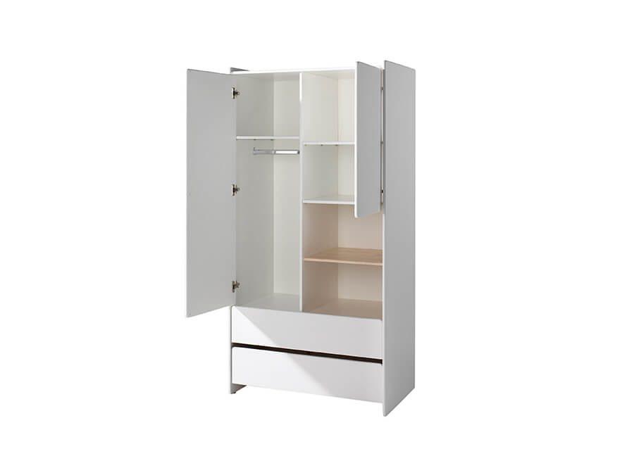 KIKL2214-Vipack-Kiddy-2deurs-kledingkast-open