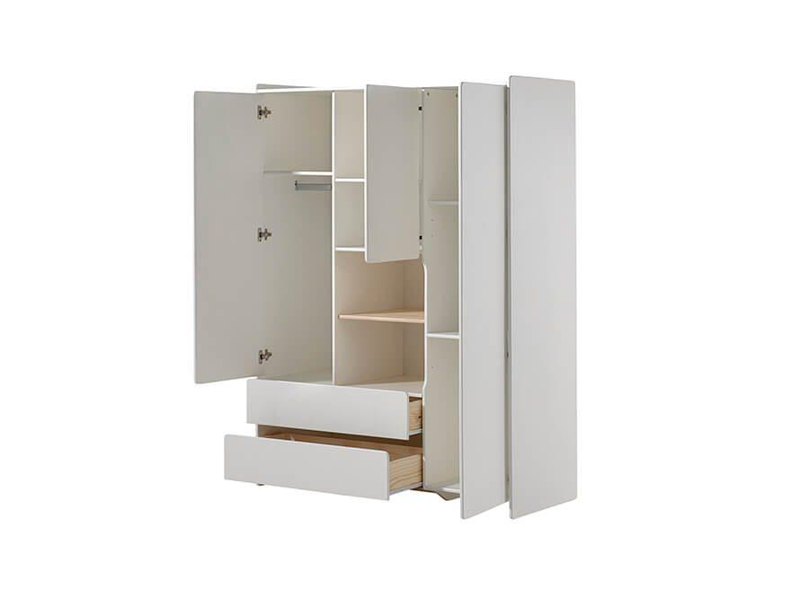 KIKL2314-Vipack-Kiddy-3deurs-kledingkast-open
