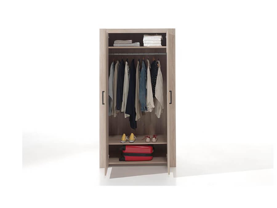 ALKI1270 Vipack Aline 2deurs kledingkast open