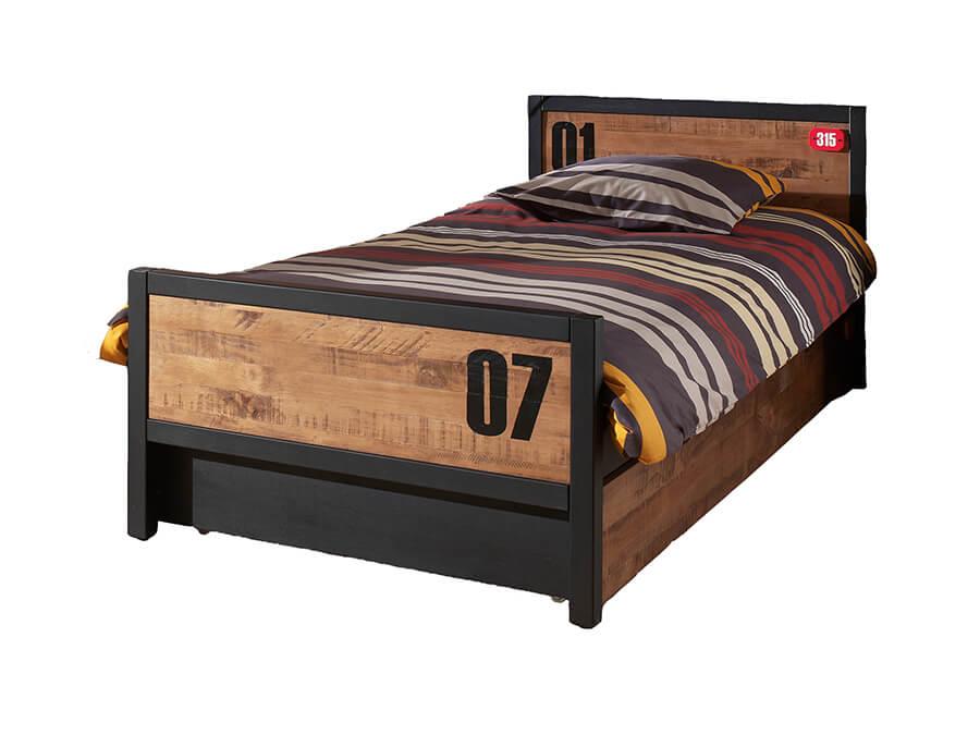 AXBE9019 Vipack Alex bed met onderschuifbed