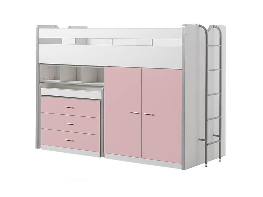 BONHS7015 Vipack Bonny Hoogslaper bureau roze