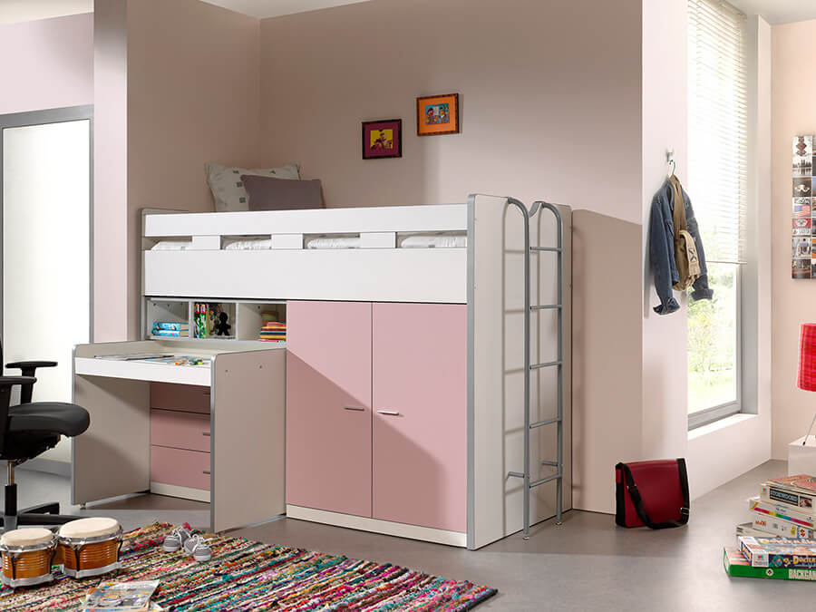 BONHS7015 Vipack Bonny Hoogslaper bureau roze2