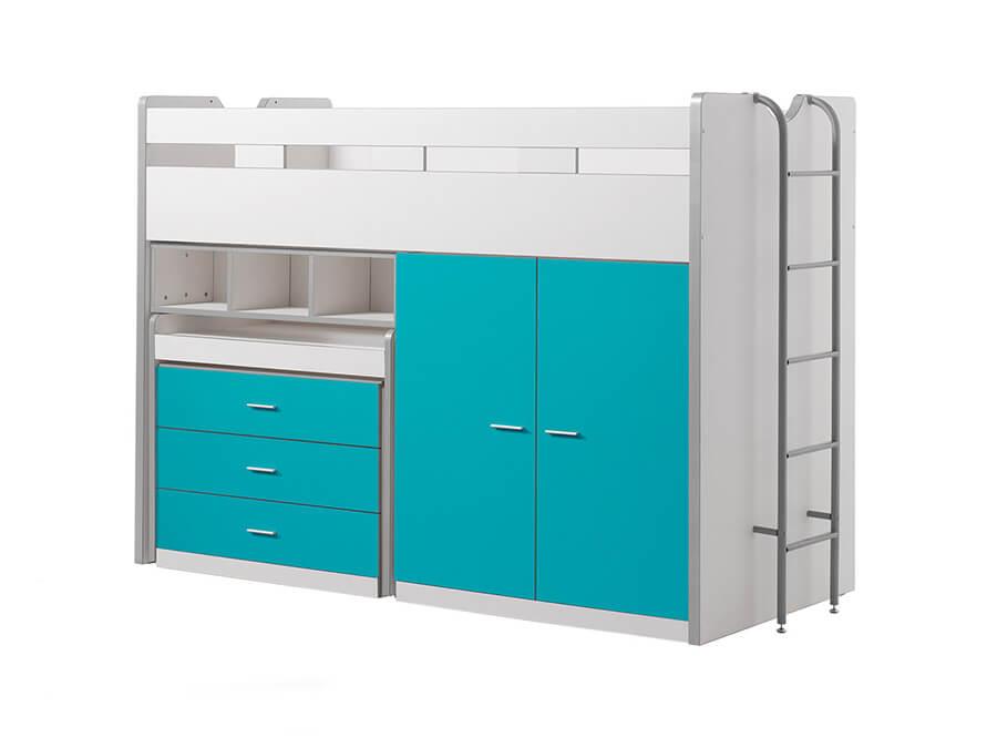 BONHS7094 Vipack Bonny Hoogslaper bureau turquoise