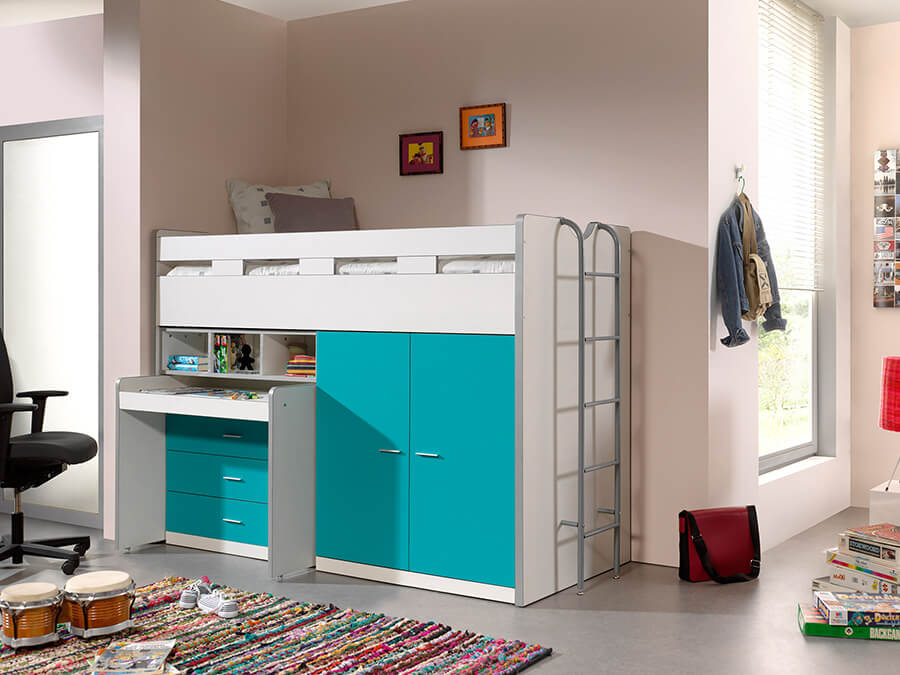 BONHS7094 Vipack Bonny Hoogslaper bureau turquoise2