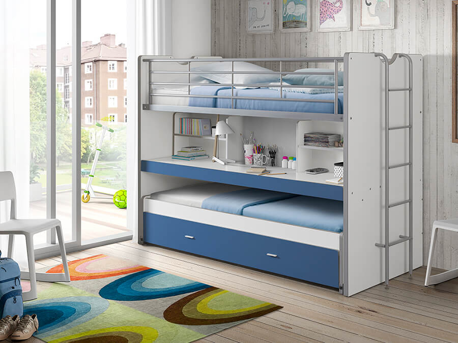 BONHS8007 Vipack Bonny 80 Stapelbed bureau blauw2