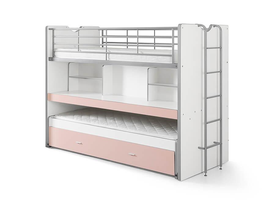 BONHS8015 Vipack Bonny 80 Stapelbed bureau roze