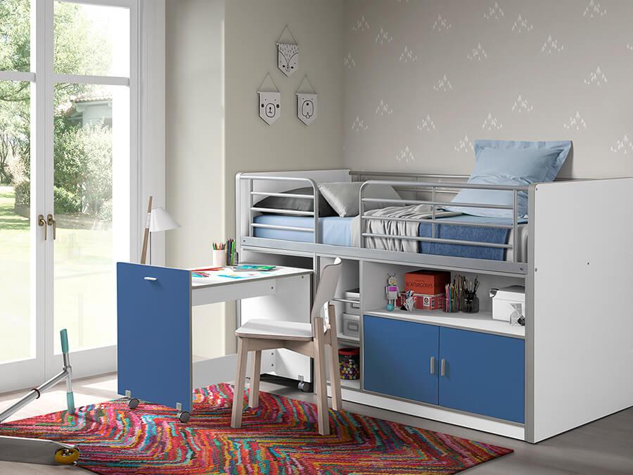 BONHS9107 Vipack Bonny 91 Halfhoogslaper bureau blauw2
