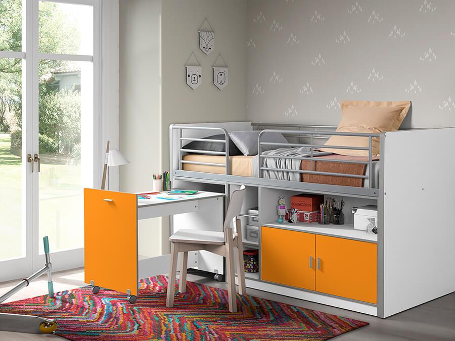 BONHS9111 Vipack Bonny 91 Halfhoogslaper bureau oranje2