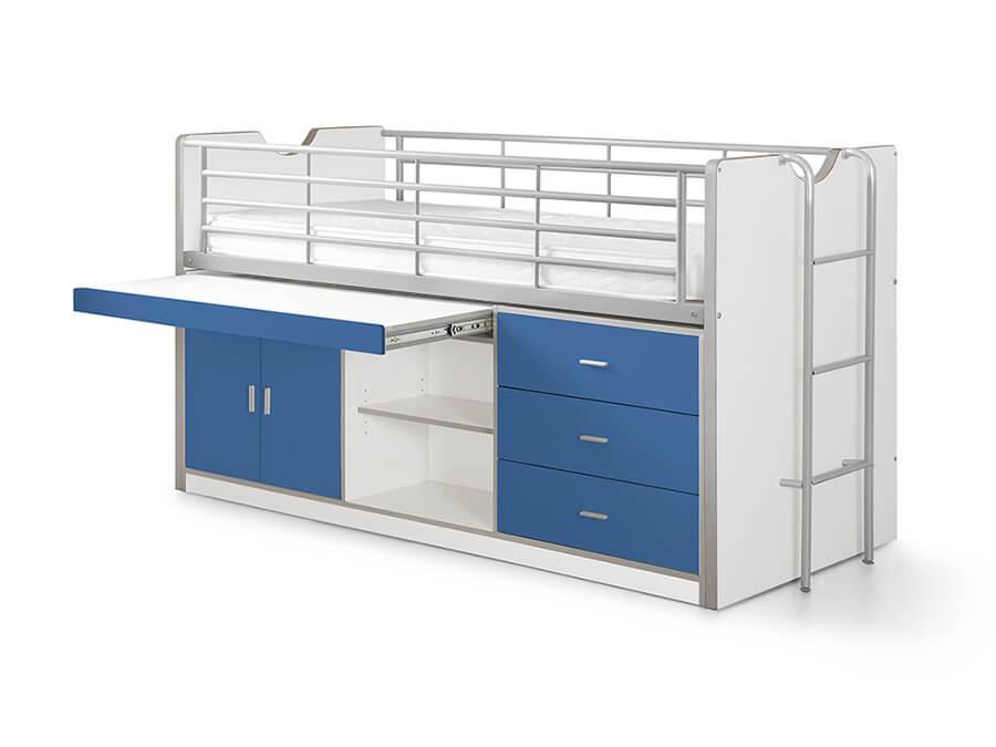 BONHS9507 Vipack Bonny 95 Halfhoogslaper bureau blauw