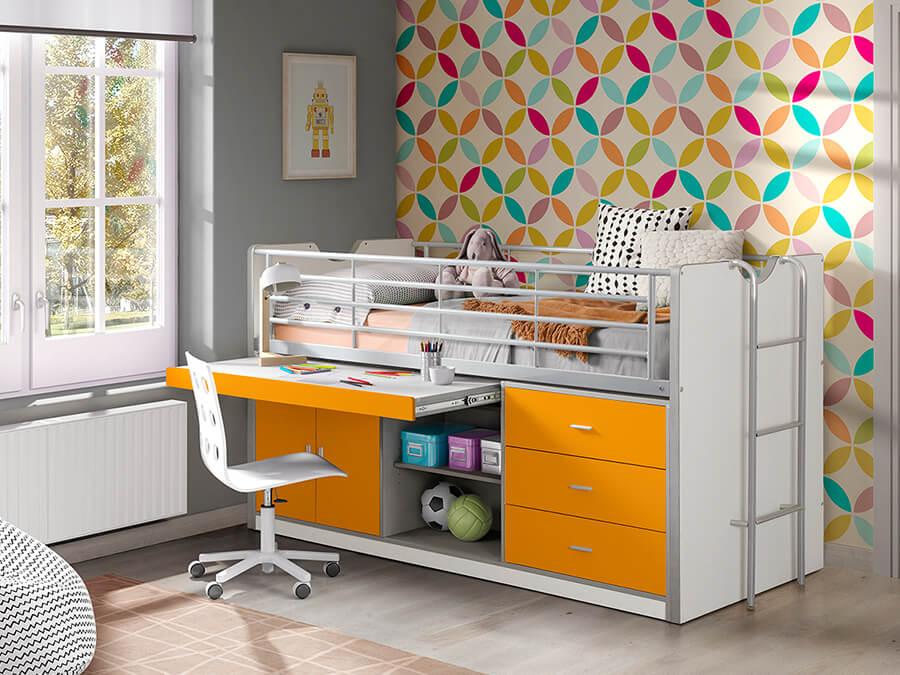 BONHS9511 Vipack Bonny 95 Halfhoogslaper bureau oranje2