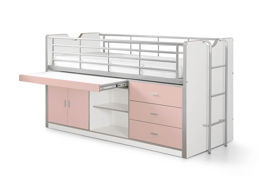 BONHS9515 Vipack Bonny 95 Halfhoogslaper bureau roze