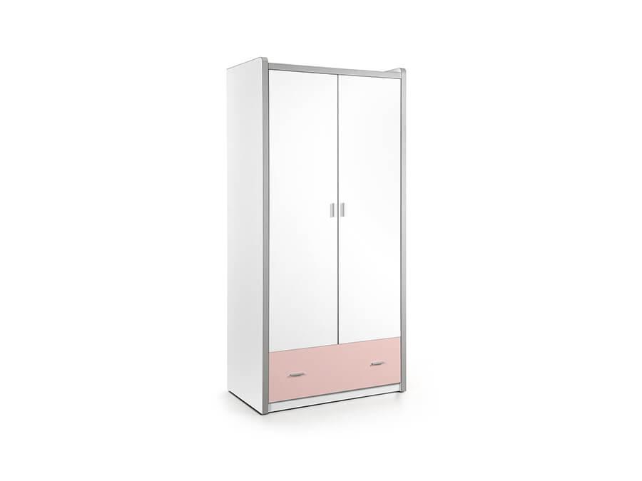 BONKL2215 Vipack Bonny 2deurs kledingkast roze