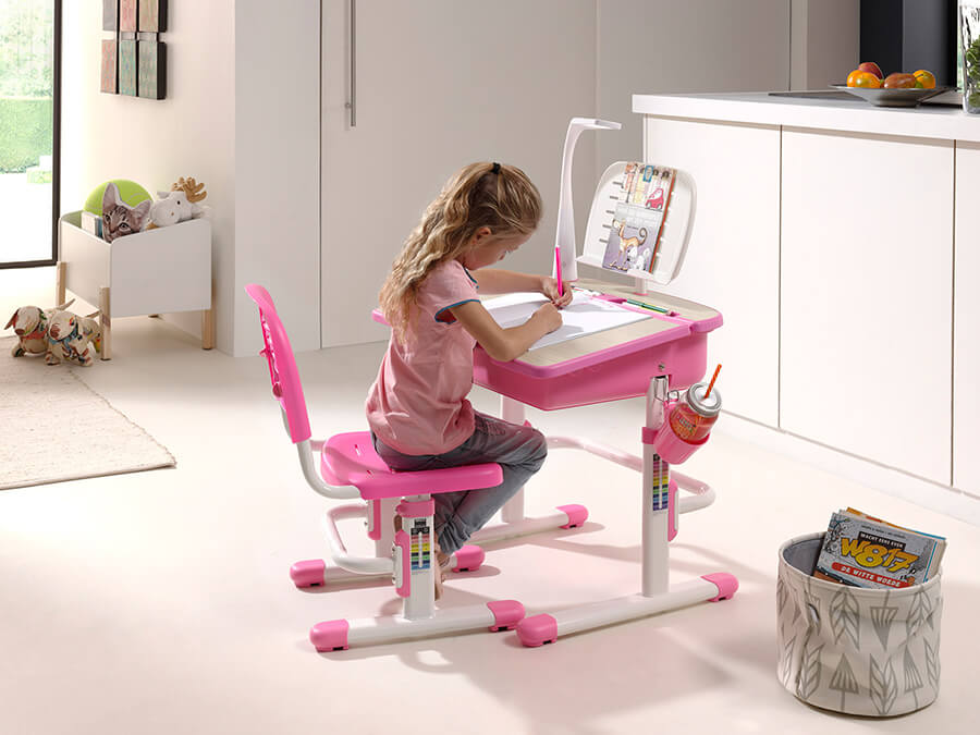 CLBU30113 Vipack Comfortline bureau 301 roze2