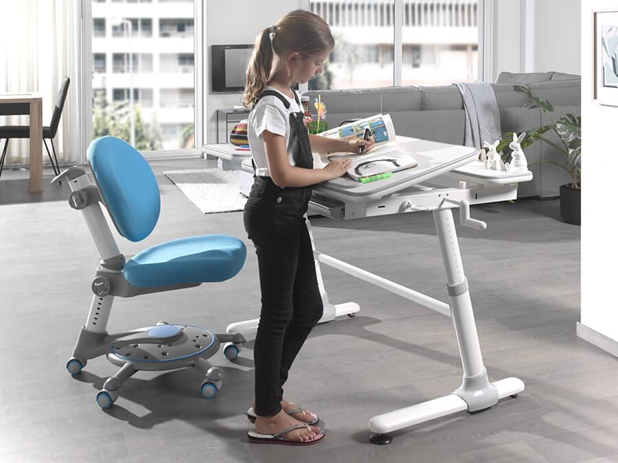 CLBU50215 Vipack Comfortline bureau 501 blauwe stoel