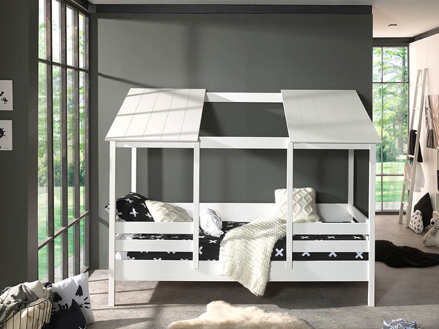 HB900914 Vipack Housebeds 09 wit dak 1