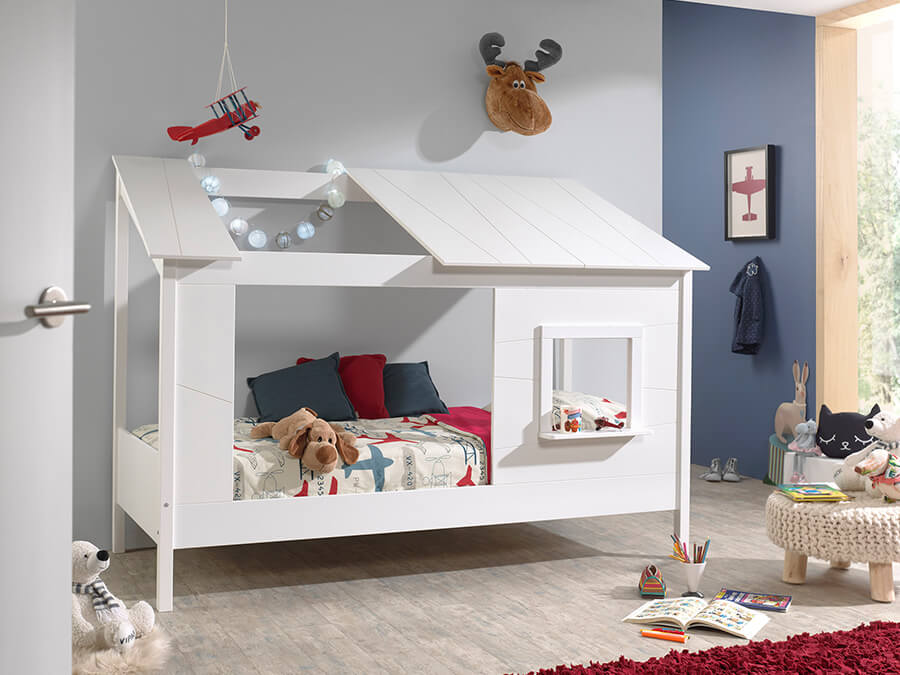 HB902614 Vipack Housebeds 26 wit dak 1