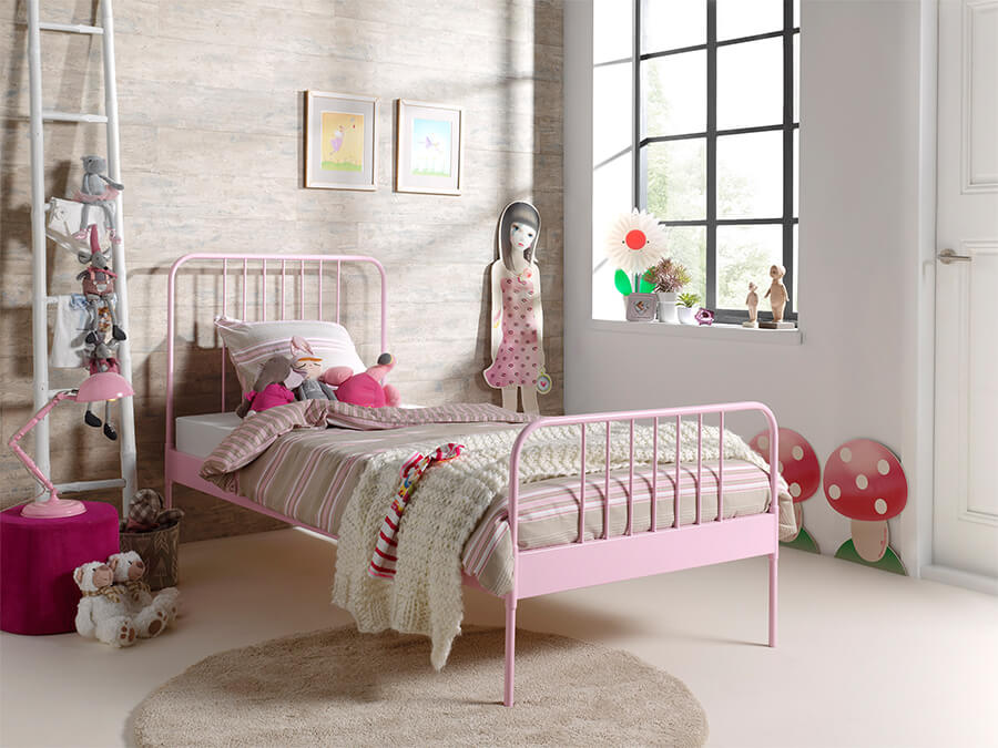 JABE9013 Vipack Jacky metalenbed roze1