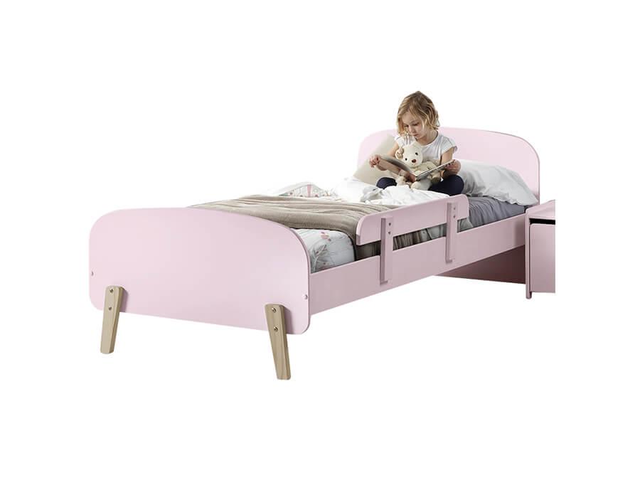 KIBE9013 Vipack Kiddy bed roze met uitvalbeveiliging