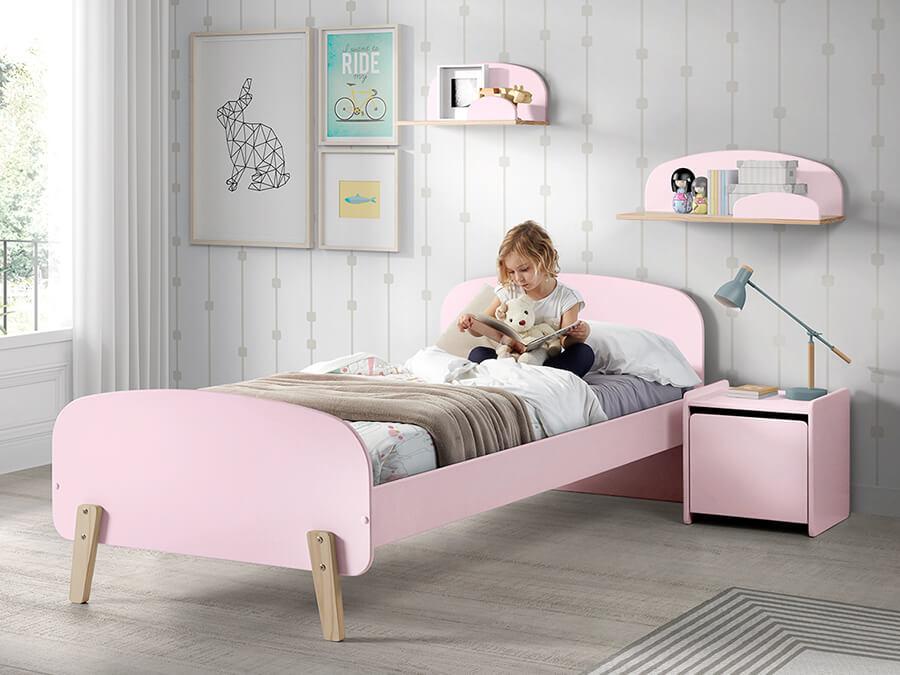 KIBE9013 Vipack Kiddy bed roze1
