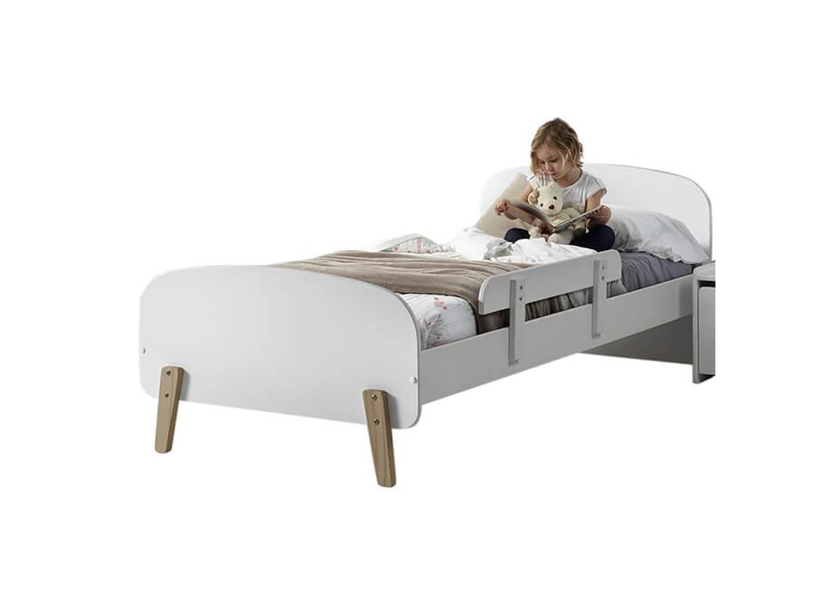 KIBE9014 Vipack Kiddy bed wit met uitvalbeveiliging