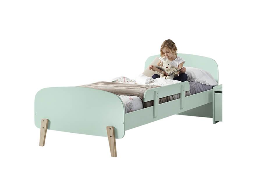 KIBE9093 Vipack Kiddy bed mintgroen met uitvalbeveiliging