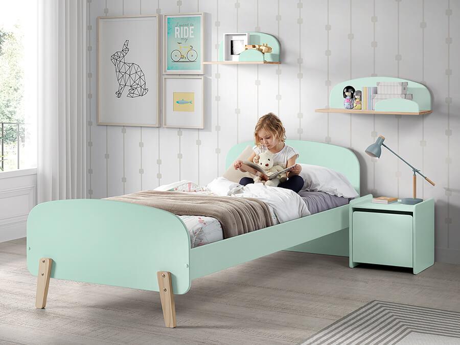 KIBE9093 Vipack Kiddy bed mintgroen1