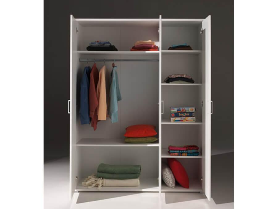 MIKL1314 Vipack Milan 3deurs kledingkast open