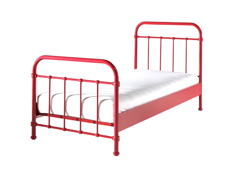 NYBE9020 Vipack New York metalen bed rood