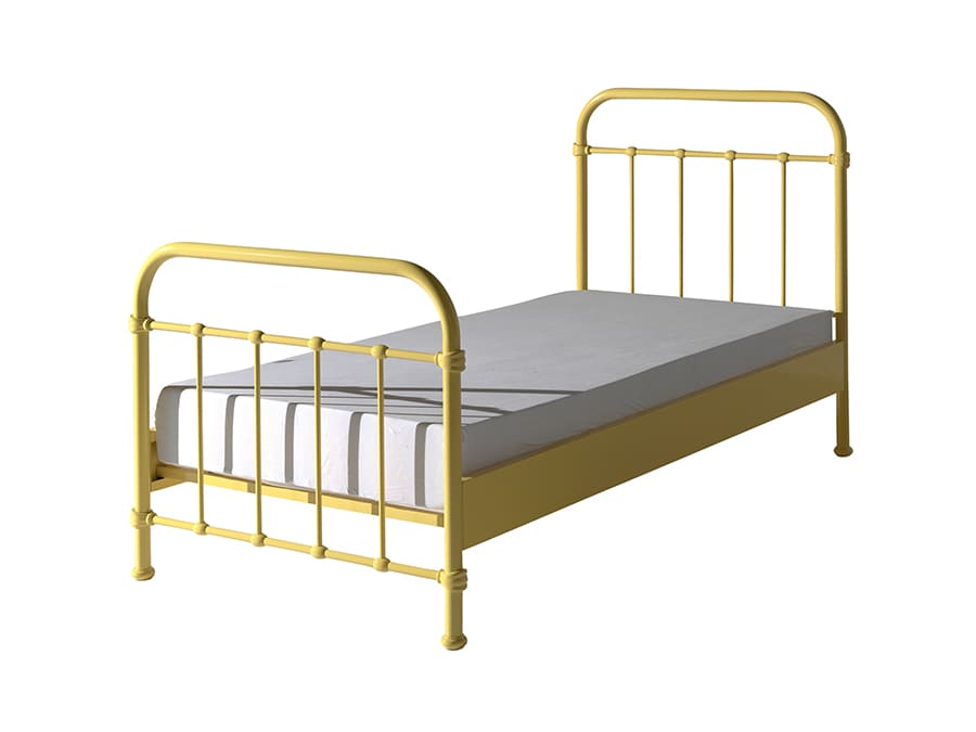 NYBE9021 Vipack New York metalen bed geel
