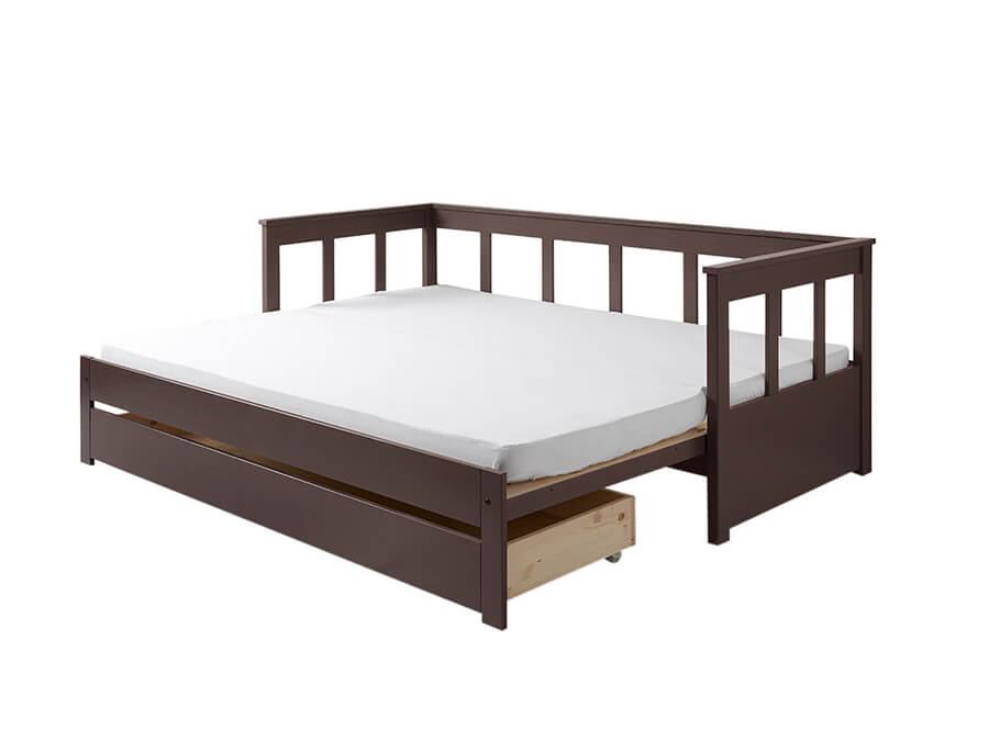 PIKB9115 Vipack Pino bedbank uitschuifbaar taupe1