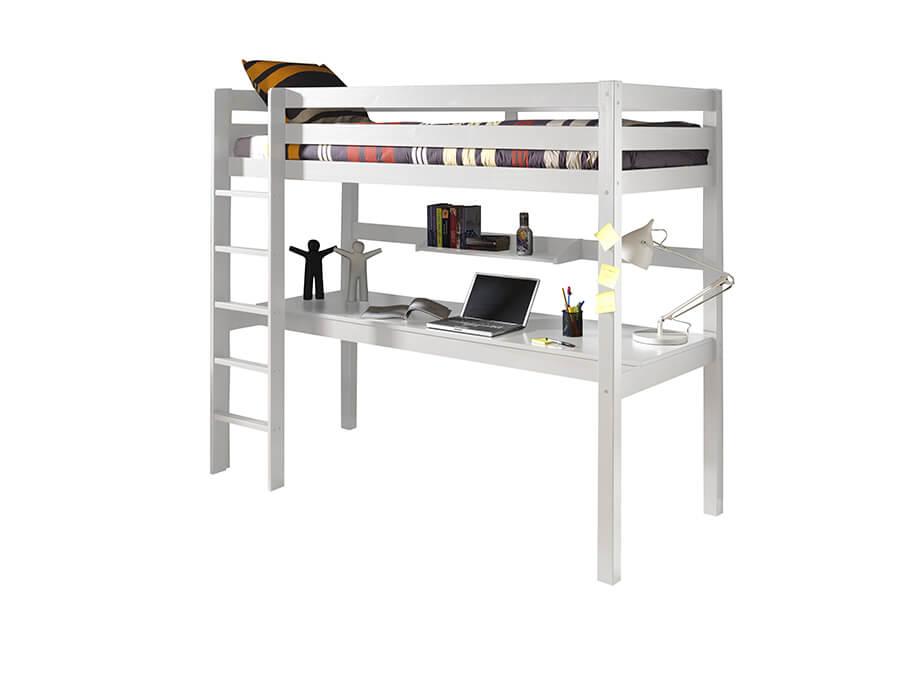 PIOLBU14 Vipack Pino hoogslaper groot bureau wit