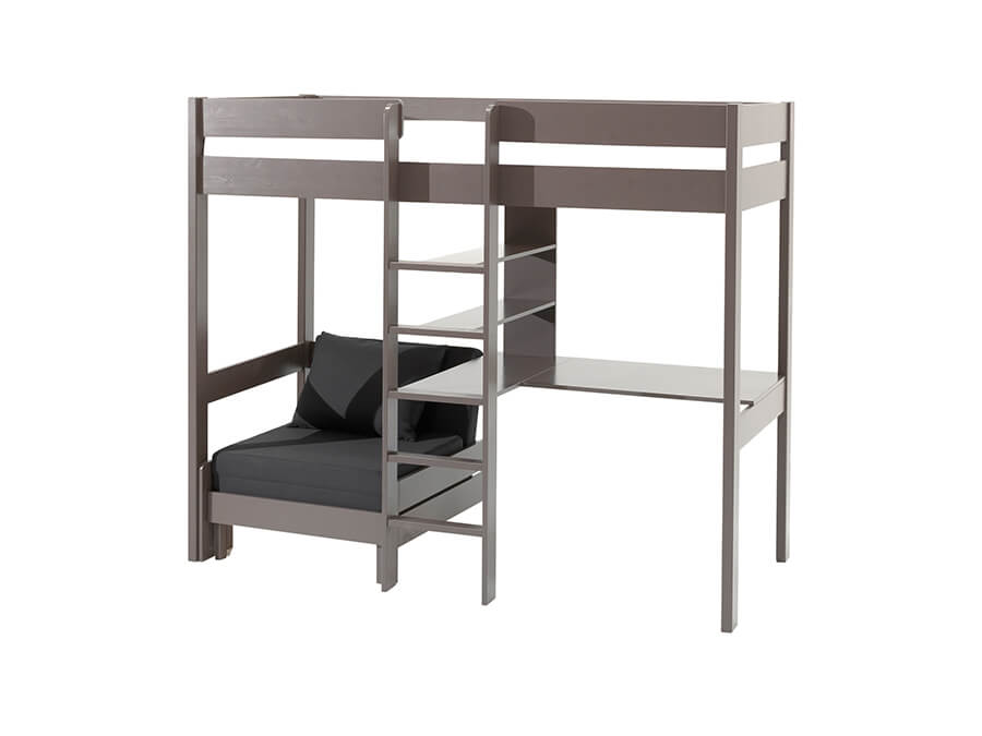 PIOLZB15 Vipack Pino hoogslaper bureau zetelbed taupe