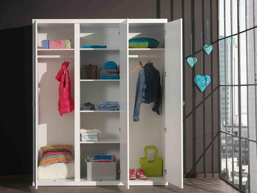 ROKL1314 Vipack Robin 3deurs kledingkast open
