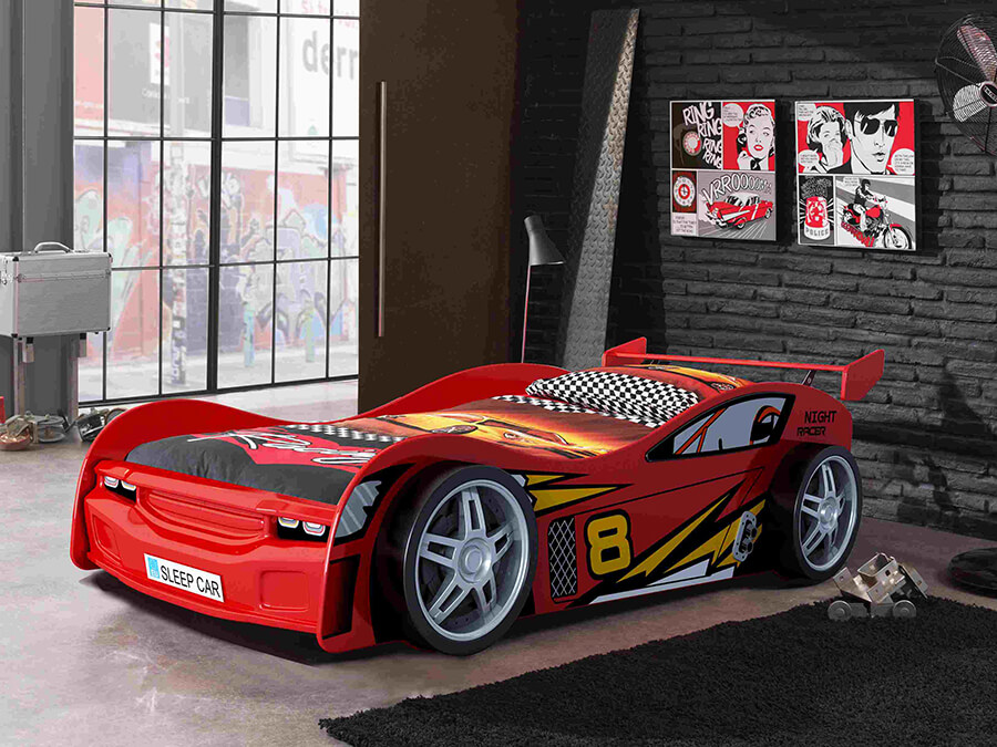 SCNR200R Vipack night racer autobed rood2