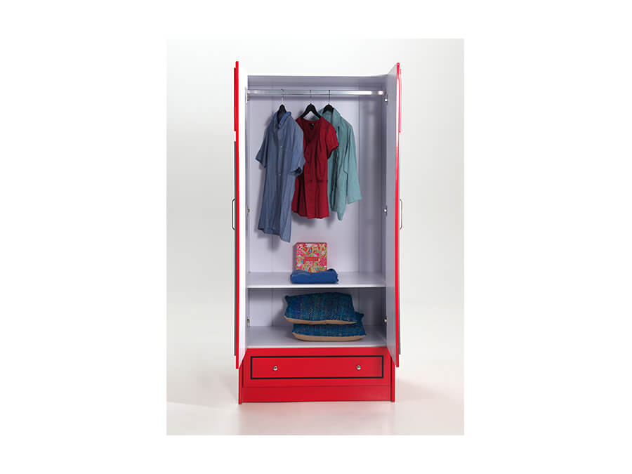 SCWRLB Vipack telefooncel kledingkast open