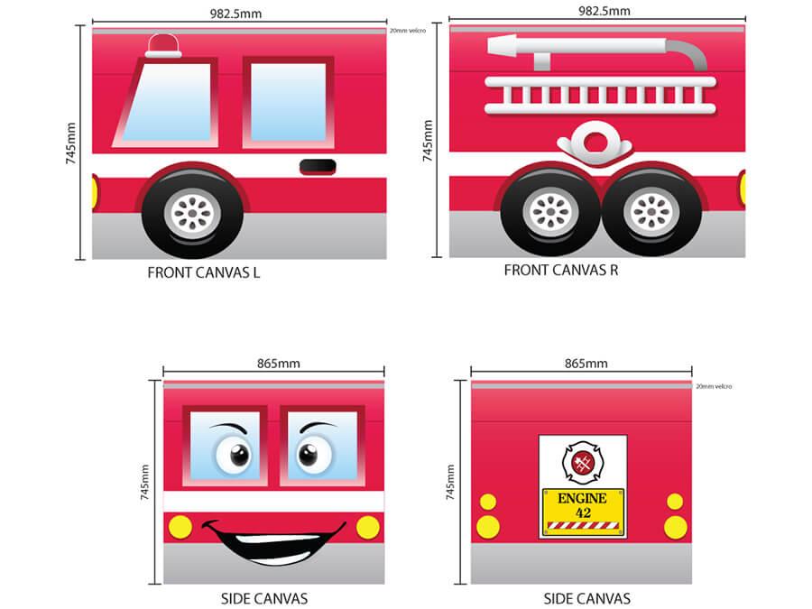 TX70070 speelgordijn brandweer