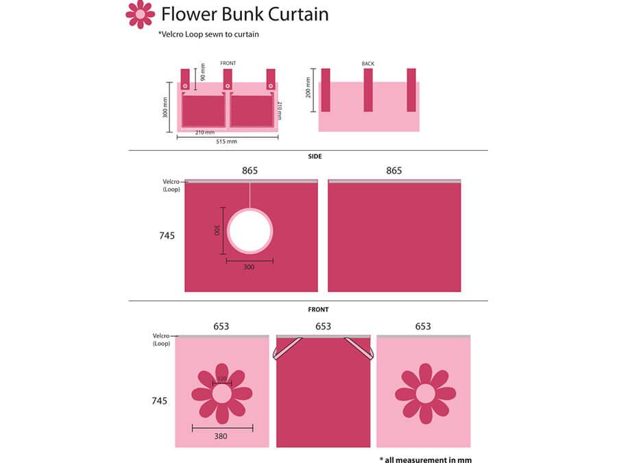 TX70073 speelgordijn bloem