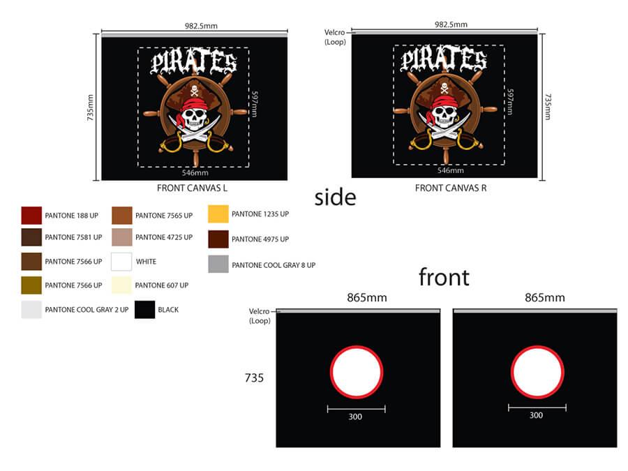 TX70077 speelgordijn piraten