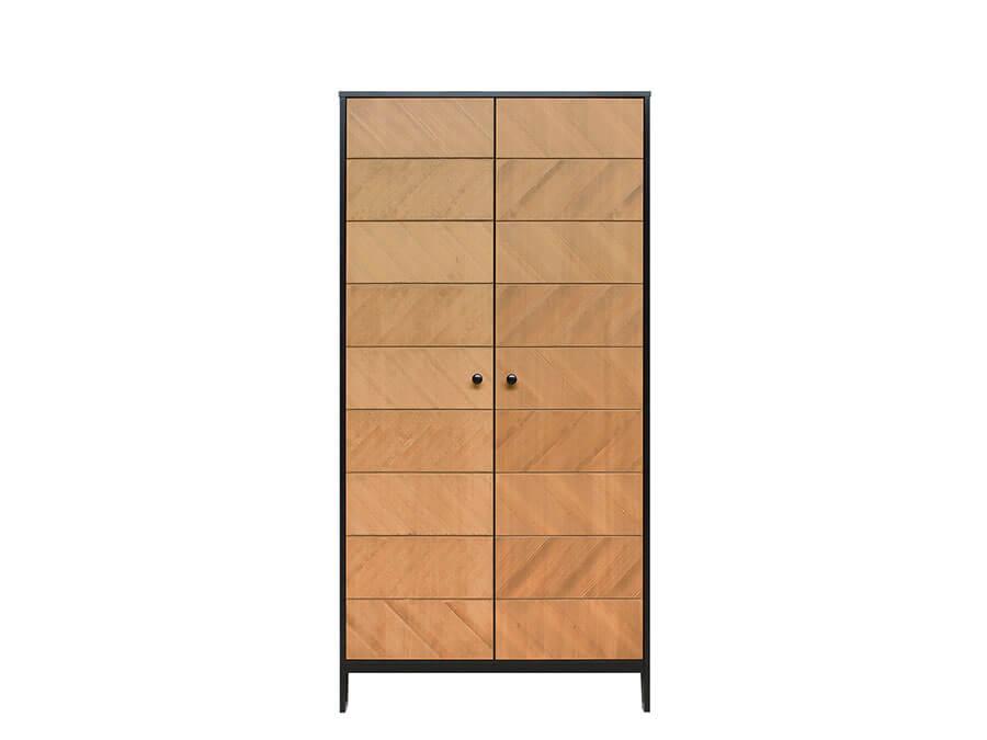 11619150-Bopita-2-deurskast-Job-Vintage-honey-voorkant