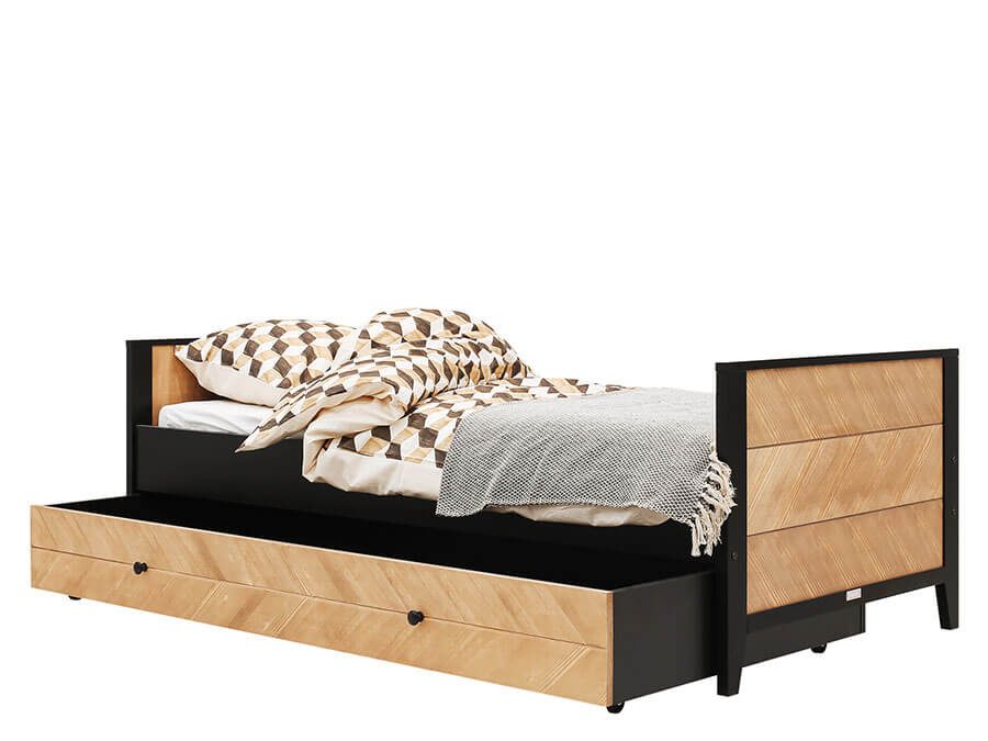 15419150-Bopita-bed-Job-90x200-Vintage-Honey-onderschuifbed