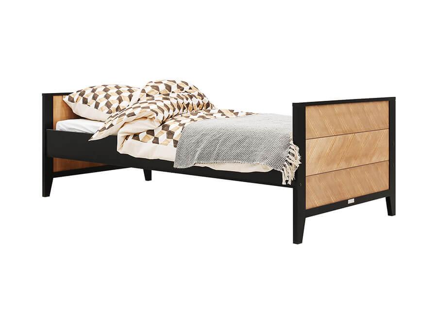 15419150-Bopita-bed-Job-90x200-Vintage-Honey-opgemaakt
