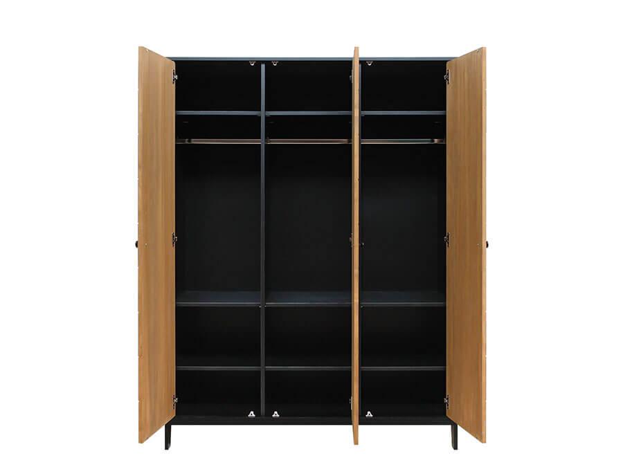 15619150-Bopita-3-deurskast-Job-Vintage-Honey-open