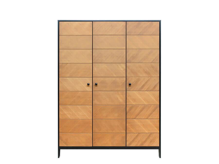15619150-Bopita-3-deurskast-Job-Vintage-Honey-voorkant