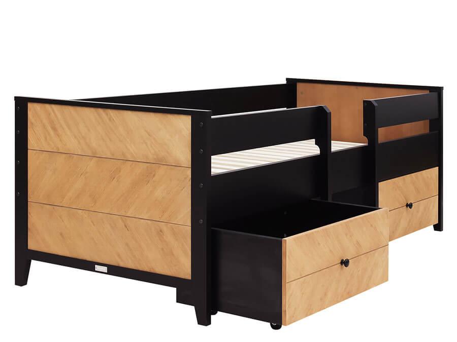21119150-Bopita-compactbed-Job-90x200-Vintage-Honey-voorkant-opberglade