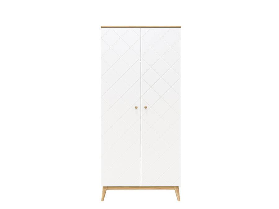 11619351-Bopita-Paris-2-deurs-kledingkast-wit-eiken-voorkant