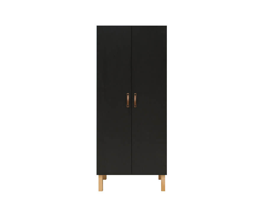 11619719-Bopita-Floris-2-deurs-kledingkast-mat-zwart-voorkant